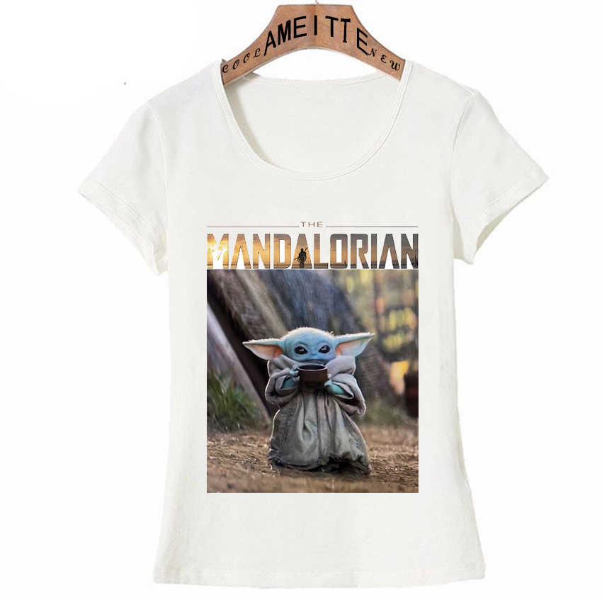 Nieuwe 2020 Star Wars De Mandalorian Kind Baby Yoda Ontwerp T-shirt Damesmode Korte Mouwen Cartoon Tops Kawaii Meisje tee