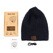 Wireless Bluetooth 4.2 Smart Cap Warm Winter Beanie Hat Multifunction Headphone Headset Speaker Mic Thickened Velvet Hat sport wireless bluetooth headset music hat colorful smart cap headphones beanie warm winter hat with speaker mic earphones