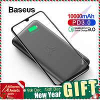 Baseus 10000mAh Accumulatori e caricabatterie di riserva Qi Carica Senza Fili per il iPhone 11 Pro Max Samsung Powerbank USB PD di Ricarica Veloce Sottile Esterno batteria