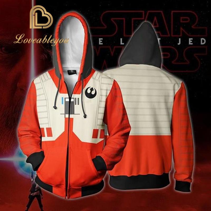 Movie Star Wars Darth Vader Men Sweatshirts Hoodie Cosplay Costume Jackets Zipper Hoded