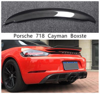 Spoiler For Porsche 718 Cayman Boxster 2016 2017 2018 2019 2020 High Quality Carbon Fiber Wing Lip Spoilers
