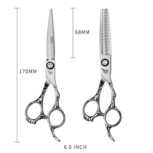 Image 4 - Japan Steel 5.5 6.0 Professional Hairdressing Scissors Hair Professional Barber Scissors Set Hair Cutting Shears Scissor Haircut