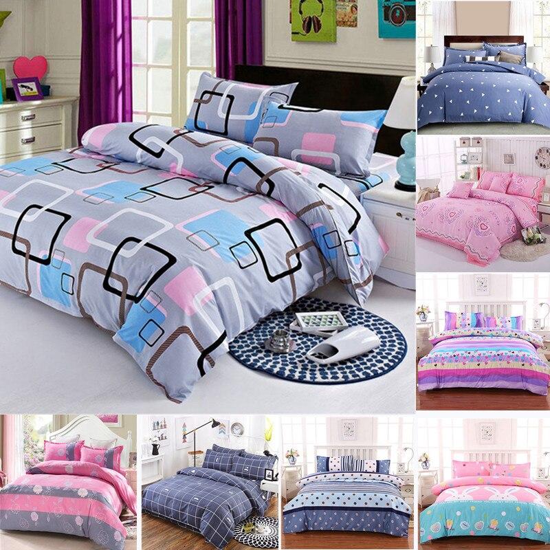 Простыня разных размеров, пододеяльник, наволочка, домашний текстиль, постельное белье, постельное белье, для одного человека, двойное покрывало