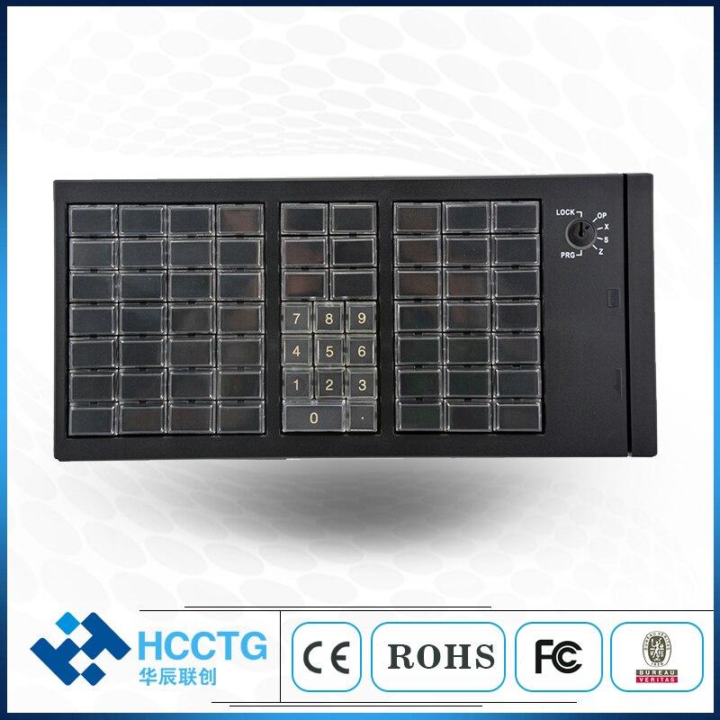 KB66 Magnetic Card Reader Supermarket Program Keyboard USB Or PS/2 Interface Option