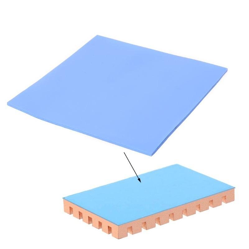 1 лист, теплопроводность 100 мм x 100 мм x 3 мм, теплопроводность, теплоотвод, охлаждение, проводящая силиконовая прокладка, термопрокладки для ПК...