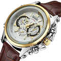 TEMEITE Klassische Mode Lederband Männer Quarz Armbanduhr Datum Display Leucht Hände Wasserdicht Luxus Marke Uhr Männliche Uhr