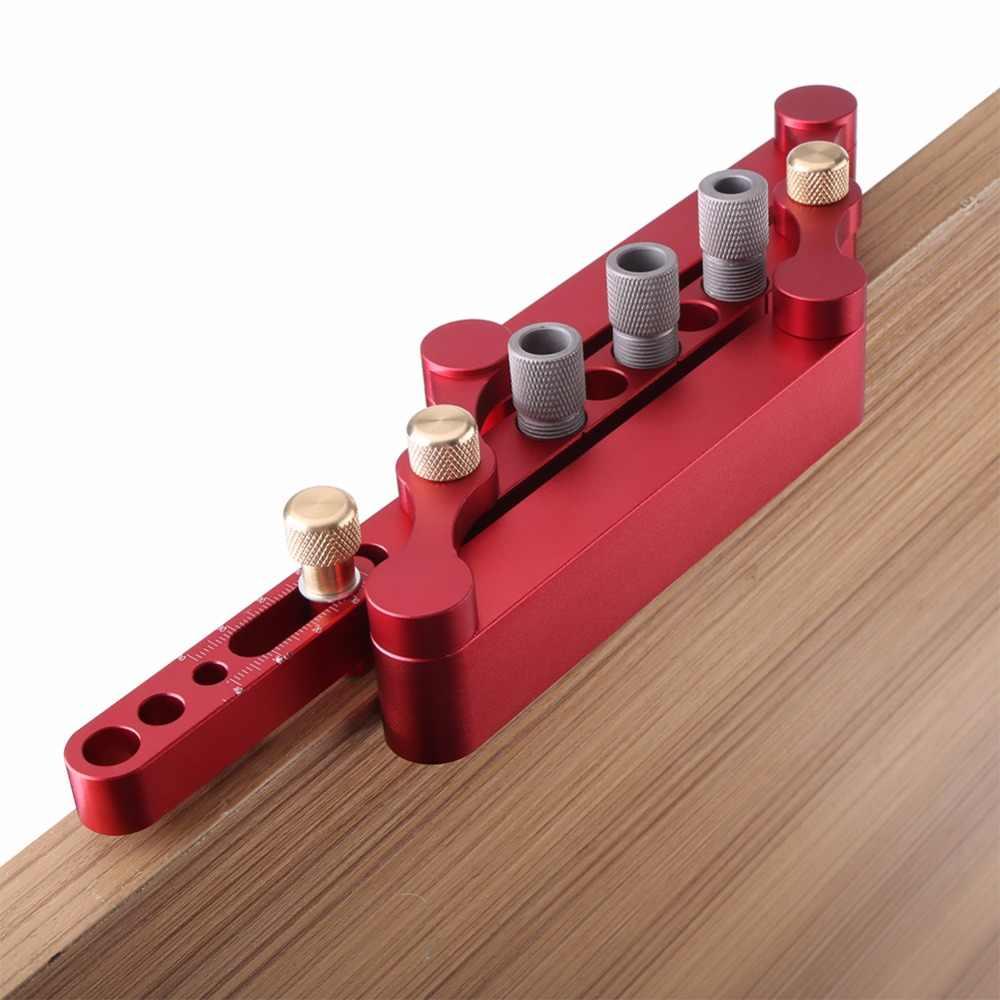 Guide de forage trou de cheville en bois Guide de forage outil de localisation de positionneur de bois pour faire des trous de 6/8/10mm
