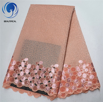 BEAUTIFICAL african lace fabrics embroidery organza lace fabric Latest style nigerian lace organza fabric for women ML4O99