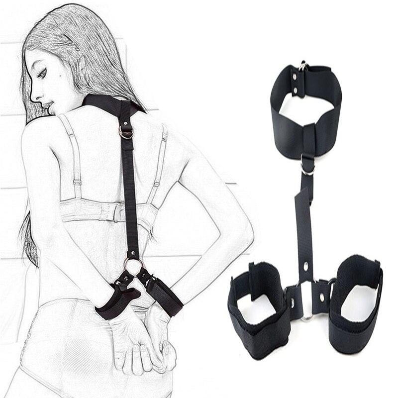БДСМ игрушка для взрослых игры БДСМ секс-игрушки для женщин наручники для секса БДСМ бондаж фиксаторы Фетиш раб пар секс-товары секс-шоп
