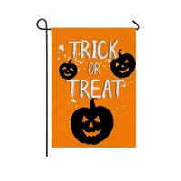 flag Decorative Halloween pumpkin bat ghost spider castle Printing Outdoor Banner Flag Outside Porch Garden Home Decor 46X31cm