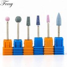 Фрезы для ногтей, фрезы для дизайна ногтей, керамические каменные фрезы для маникюра, фрезы для ногтей, аксессуары для ногтей, инструменты для педикюра, Feecy 4T