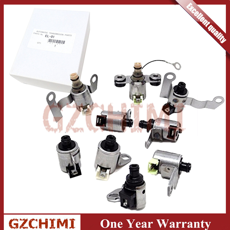 09A 09B 5F31 JF506E 9 Piece Transmission Shift Solenoid Gearbox Kit For VW Jaguar Land Rover