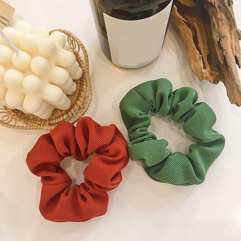 1 PC Scrunchies ผมแหวนลูกอมสีผมผูกเชือกฤดูใบไม้ร่วงฤดูหนาวผู้หญิงหางม้าอุปกรณ์เสริมผมแฟชั่นหญิง Hairbands ของขวัญ