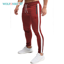 Pants WOLFONROAD Trousers Joggers Gym-Workout Stripe Sport Casual Outdoor Men Cotton