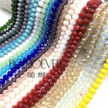 4mm/6mm/8mm Crystal Rondelle Faceted Beads Glass for Making Jewelry Diy Accessories
