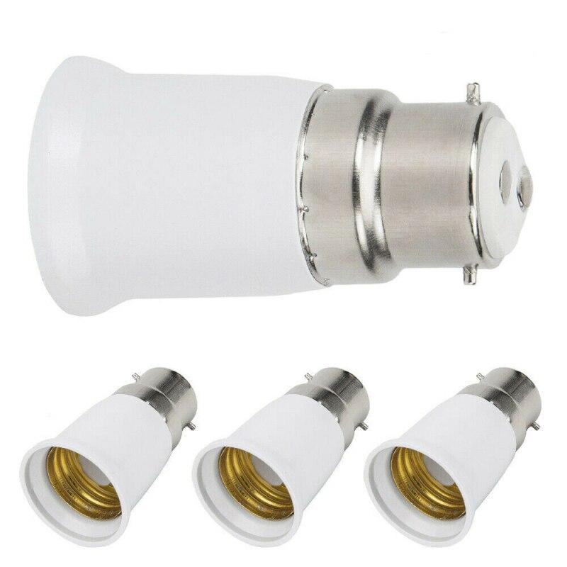 2019 NEW 1PCS B22 to E27 Light Lamp Bulb Socket Base Converter Edison Screw to Bayonet Cap Lamp Holder Converters