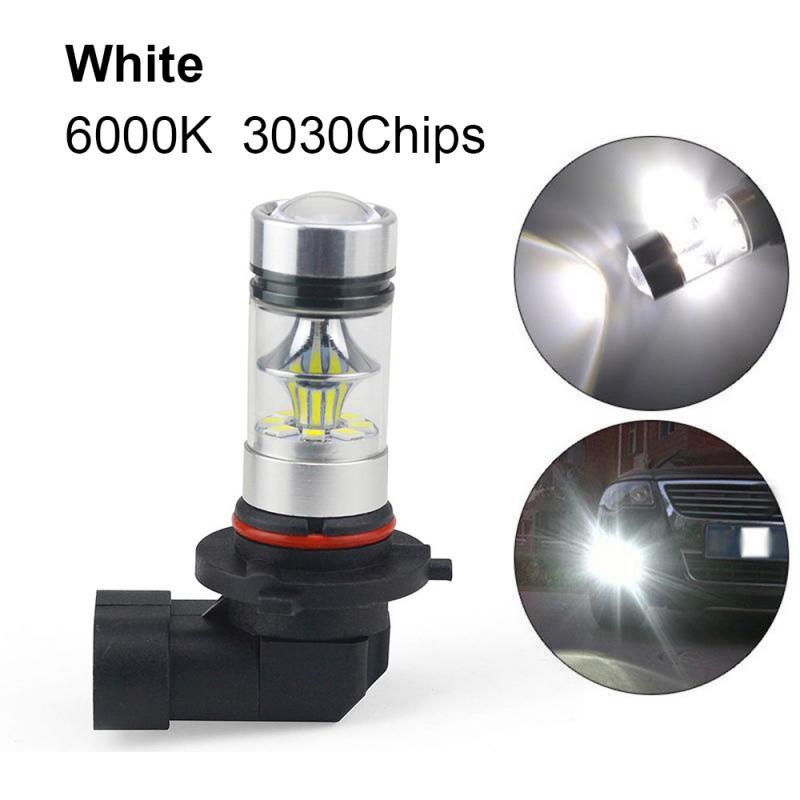 1pc 9005 HB3/9006 HB4/H10 9145/H11 H8 100W 6000K Super White Fog Light 2323 LED Driving Bulb DRL Daytime Running Light
