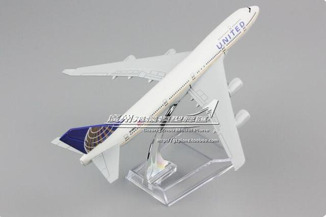 16cm-20CM Alloy Metal American Air United Airlines Boeing 747 B747 400 Airways Plane Model Aircraft Airplane Model w Stand Gift