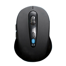 Wireless Mouse For Pc Mini Optical Gaming Bluetooth 3.0 6D 1600Dpi Without Battery Plastic