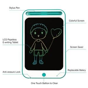 Image 2 - Beiens rysunek zabawki dla dzieci tablica do pisania LCD dzieci Tablet graficzny Scratch zabawka do malowania z anty erase Lock urodziny prezenty