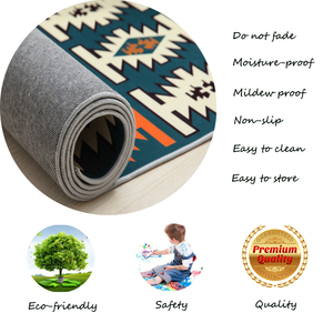 Image 5 - Simple Carpet Rug For Living Room Geometric Wood Floor Rug Non slip Antifouling Carpet For Bedroom Parlor Factory Direct Supply