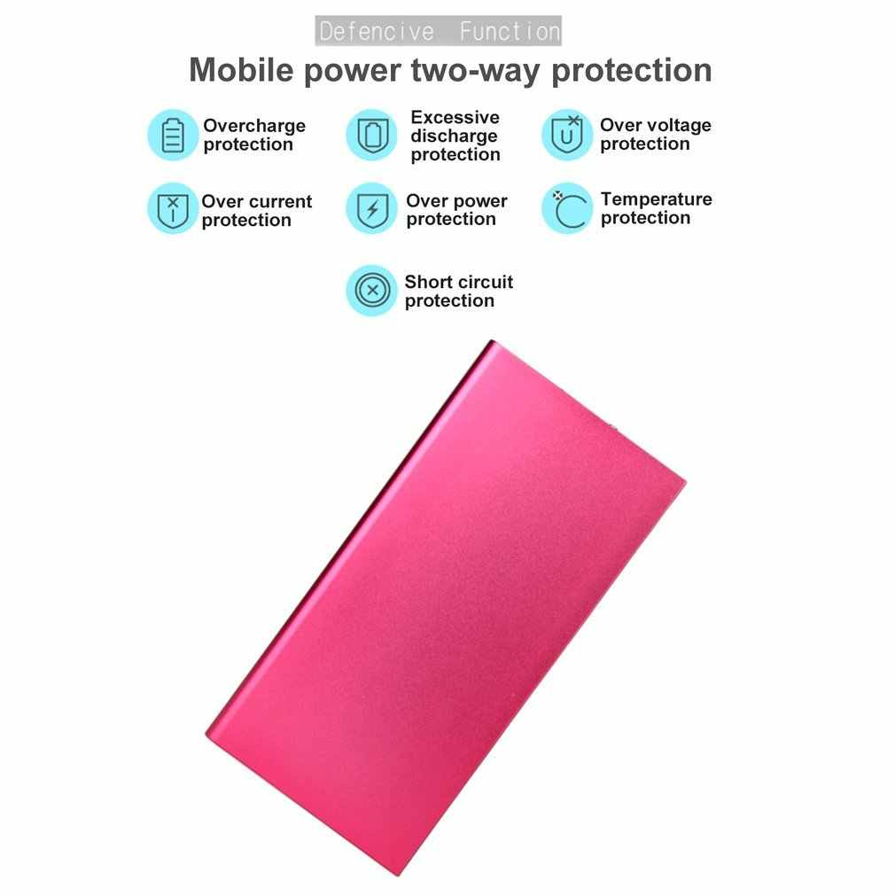 2018 New 20000mAh Mini Portable Power Bank Lightweight Dual USB External Battery Charger Power Backup With LED Light For Phone