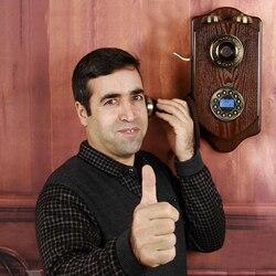 Do montażu na ścianie telefon stacjonarny retro telefon przewodowy stacjonarny antyczne telefonu dla domowy Hotel salon salon wykonane z drewna telefonos powiesić