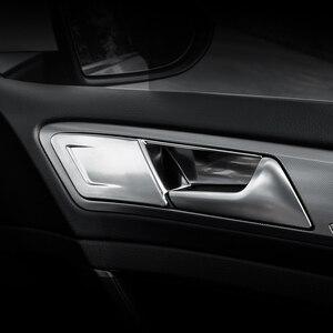 Image 4 - 4pcs ABS 자동차 인테리어 도어 핸들 커버 도어 보 울 스티커 장식 폭스 바겐 폭스 바겐 골프 7 7.5 MK7 MK7.5 LHD 2013   2019