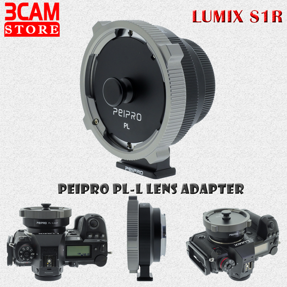 PEIPRO PL-L Lens Adapter PL Lens to S1//S1R//FP//SL//SL2 Auto Focus Adapter Ring Compatible with PL Lens to LUMIX S1R L Mount Cameras Adapters
