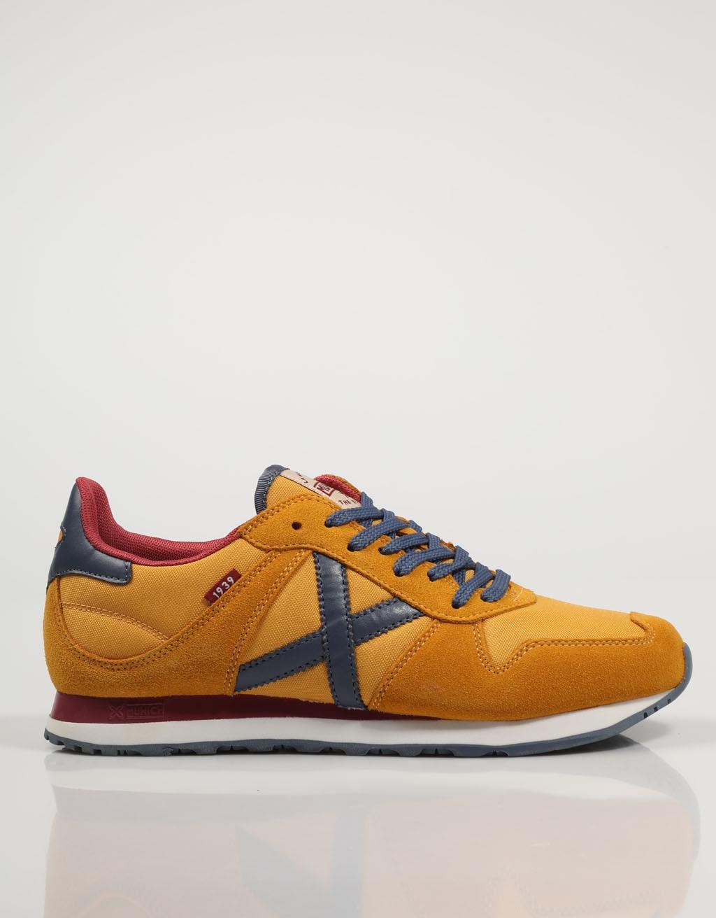MUNICH ZAPATILLAS MASSANA 435 AMARILLO Amarillo Serraje Hombre – Yellow SNEAKERS Man Shoes Casual Fashion 76188