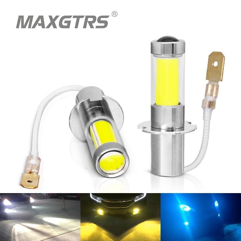 2 шт., Автомобильные светодиодные лампы 880 лм, H1, H3, H27, 881, 6000, 3000 К