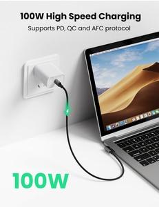 Image 2 - Ugreen USB Type C к USB C кабель для Samsung Galaxy S9 PD 100 Вт быстрое зарядное устройство кабель для Macbook поддержка быстрой зарядки 4,0 USB шнур