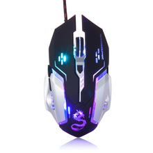 Usb 6 Buttons Laptop Optical Computer Pc Notebook Wired Gaming Mouse Mice For Dota2 Cs Gamers