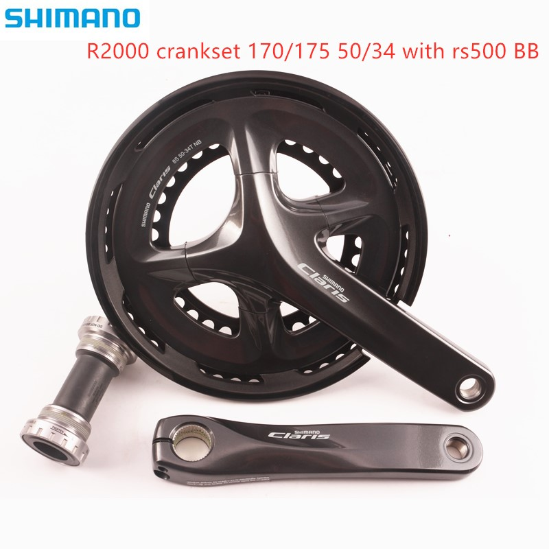 <font><b>Shimano</b></font> <font><b>Claris</b></font> <font><b>R2000</b></font> Crankset 8 Speed road bike bicycle 170 50 34t with rs500 Bottom Bracket bike accessories image