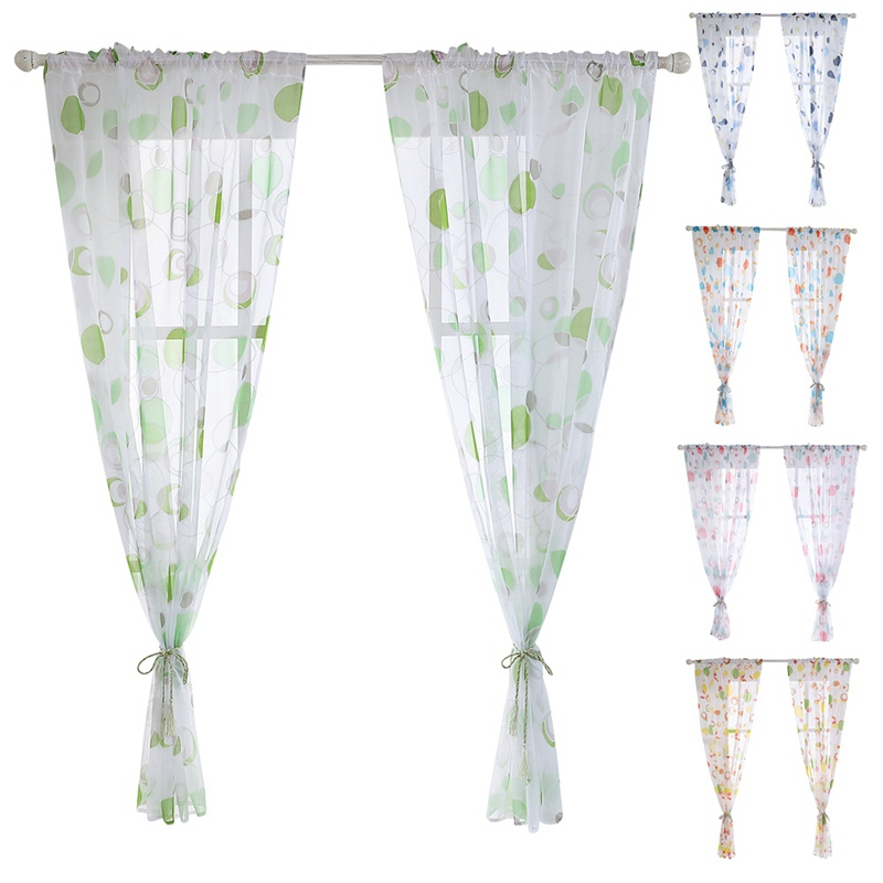 Tulle Curtains 3d Treatments American Voile Living Valance Decorations Modern Sheer Kitchen Window Room Printed Curtain 1