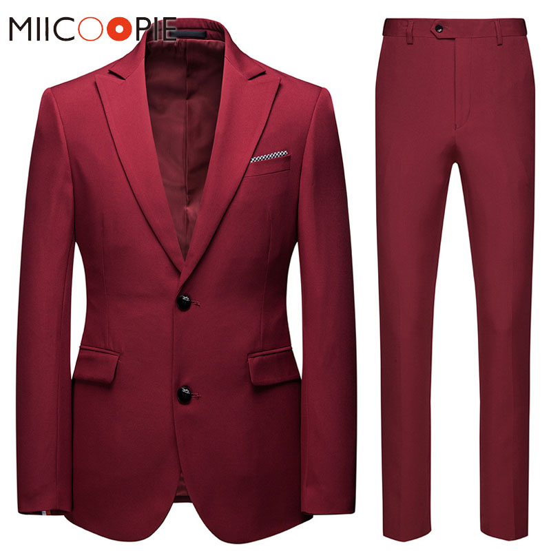 6XL Men Wedding Suits 2019 Casual Business Two Button Slim Fit Terno Masculino Wedding Groom Tuxedo Men Suits Blazer With Pants