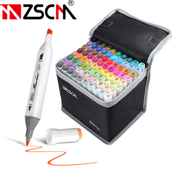 Sketching Markers Manga Drawing Marker Pens Alcohol Based Marker Pen Brush Pen Markers Felt-Tip Oily Twin Brush Pen Art Supplies 1pcs colored art markers dual brush marker pen drawing pen manga marker design pens art painting pens school stationery 96 color