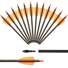 Crossbow Arrows for Hunting 7.5 Inch Archery Arrows Pure Carbon Arrows for Outdoor Shooting Sports