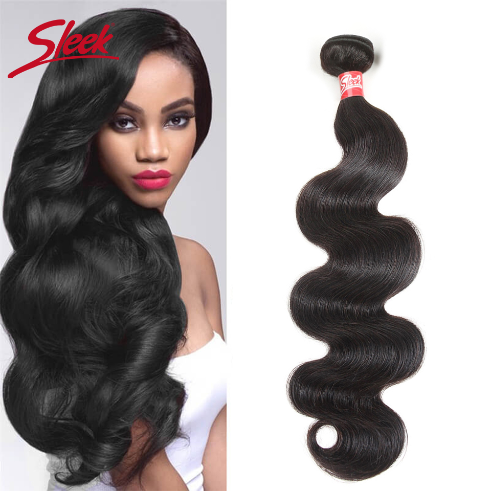 Sleek Remy Brazilian Body Wave Hair Bundles 8 To 28 Inches Hair Extension Bundles Natural Color Human Hair For Free Shipping