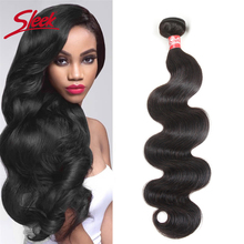 Sleek Remy Brazilian Body Wave Hair Bundles 8 To 30 Inches Hair Extension Bundles Natural Color Human Hair For Free Shipping