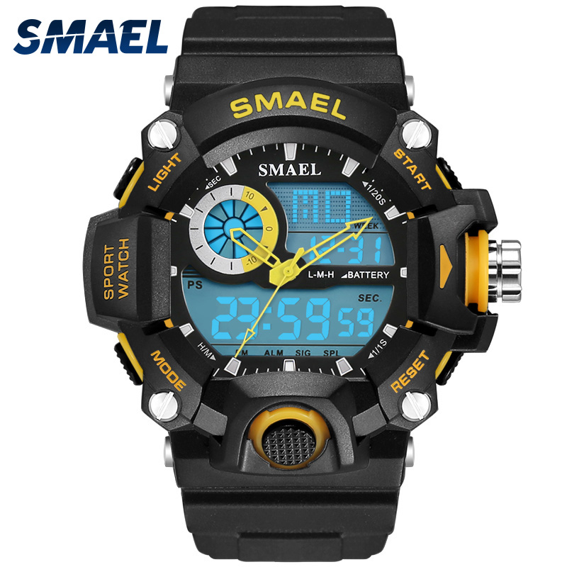 SMAEL Watches Men Military Army Mens Watch Reloj Electronic Led Sport Wristwatch Digital Male Clock 1385 S Shock Sport Watch Men|watch men|watch men militarywatch reloj - AliExpress