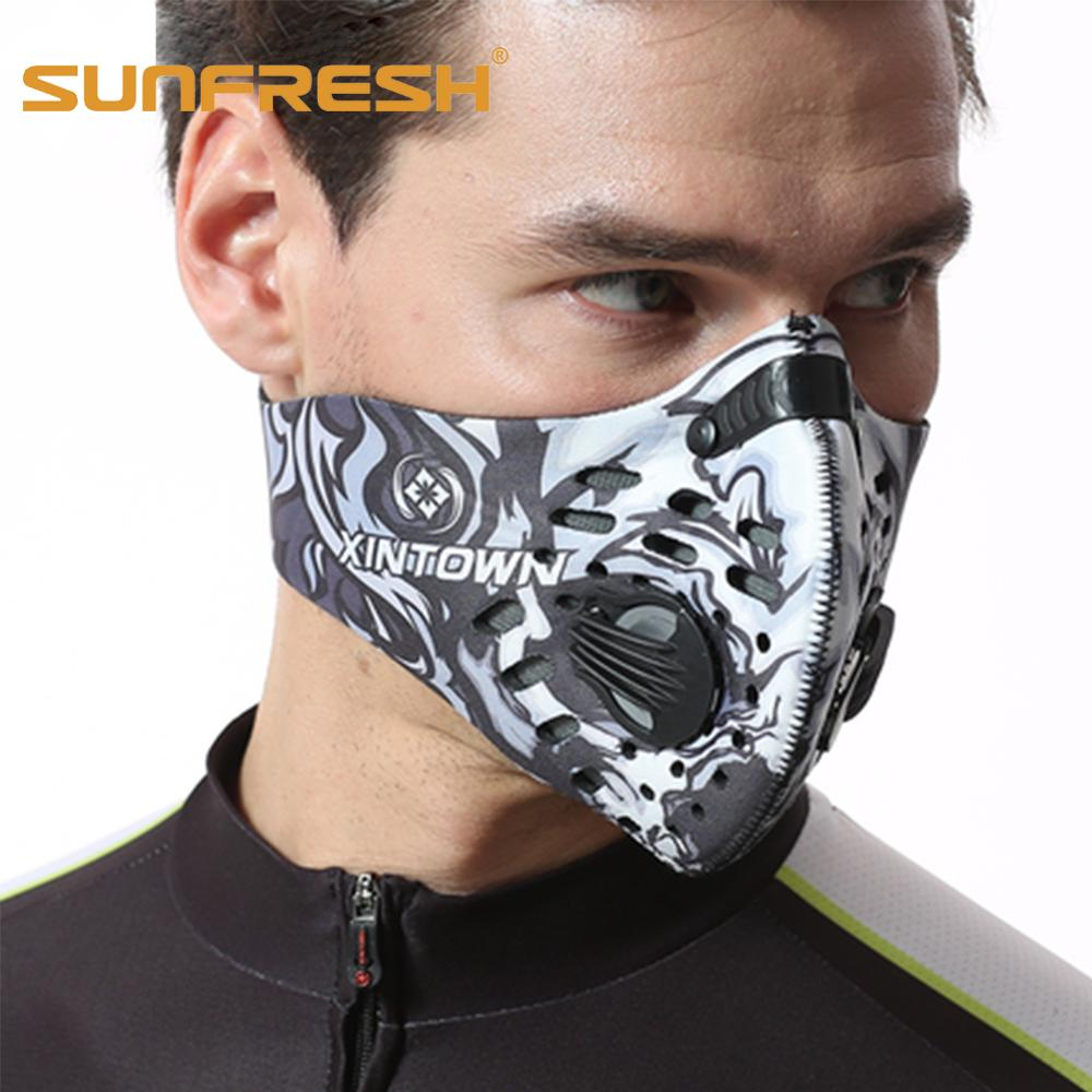 Neoprene Anti Dust Cycling Windproof Mask Pollution Mask Cycling Mouth Fine N99 N95 Air Filter Anti Odor Smog Masker Wholesale