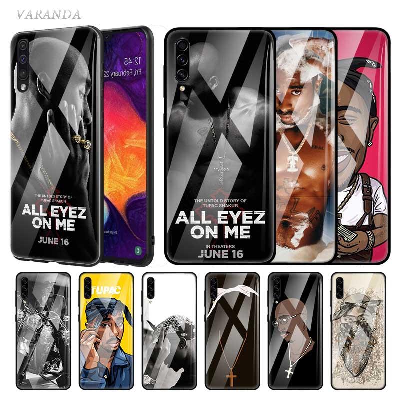 2Pac Tupac Amaru Shakur Glass Case For Samsung Galaxy A70 A50 M51 A51 A71 5G A40 A20 A10 A41 M31 Tempered Phone Coque Sac