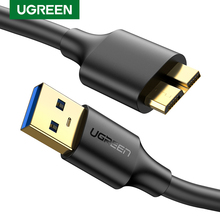 Ugreen Micro USB 3.0 Cable 3A Fast Charging Cable USB Cord Mobile Phone Data Cables for Samsung Note 3 S5 Toshiba Hard Disk