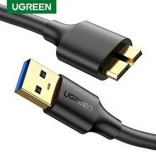 Ugreen Micro USB 3.0 kabel 3A szybkie ładowanie Micro B kabel przewód danych telefonu komórkowego dla Samsung Note 3 S5 Toshiba dysk twardy