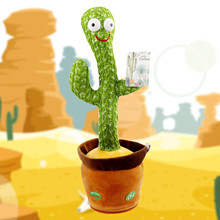 Wriggle Dancing Cactus With Cute Electronic Shake Dancing Singing Cactus Plush Toy For Kids Funny Early Childhood Education Toys