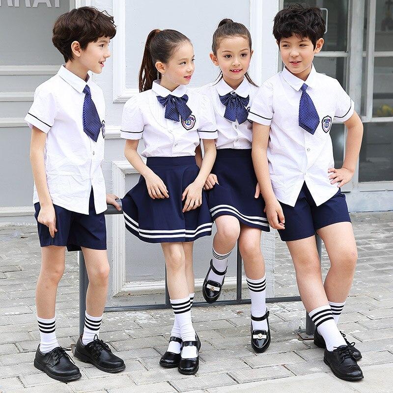 Kindergarten Suit 2019 Summer Men And Women Children Young STUDENT'S School Uniform Big Boy Sports Set