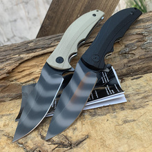 ZT 0606CF Hiking knife 9CR14MOV tiger pattern blade G10 handle  EDC quick opening bearing folding