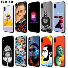 IYICAO Hip Pop Mac Miller Soft Black Silicone Case for iPhone 11 Pro Xr Xs Max X or 10 8 7 6 6S Plus 5 5S SE