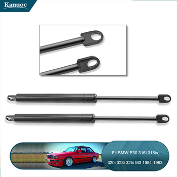 2pcs Front engine cover Lift Support Struts Shock Springs Prop Rod For BMW E30 E23 316i 318is 320i 323i 325i M3 735i image